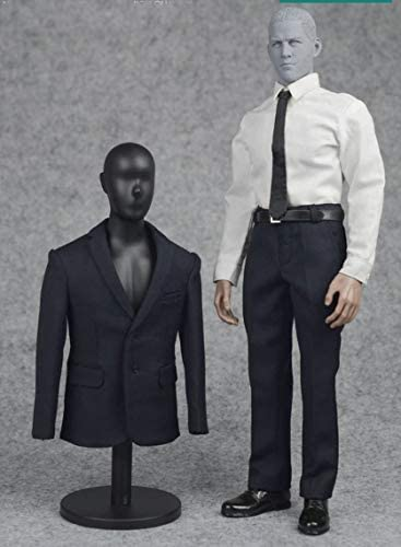 1/6 Scale Navy Blue Men Formal Suits Set & Shoes Cloth for 12'' Man Action Figure Body Doll