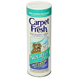 Carpet Fresh Rug and Room Deodorizer with Baking Soda and Pet Odor Neutralizer, Neutra Air Fragrance, 14 OZ