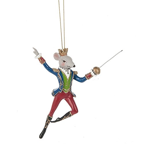 Midwest-CBK Nutcracker Mouse King Ballet with Sword 3.5 x 5 Inch Resin Christmas Ornament