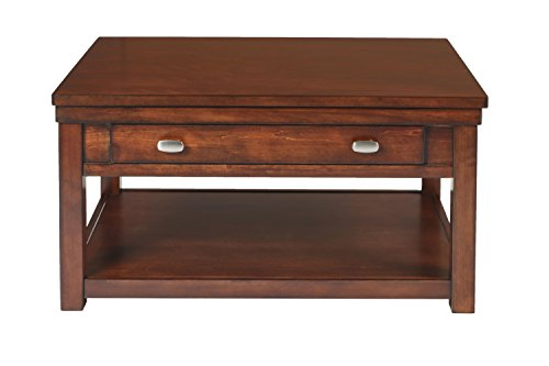 New Classic Houston Lift Top Burnished Cherry Cocktail Table