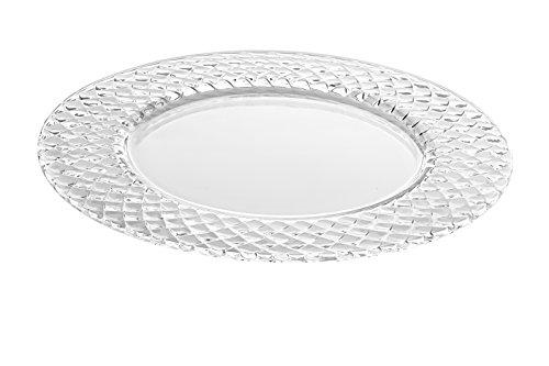 Barski - European Glass - Designed Border - Clear - Charger - Plate - 12.5