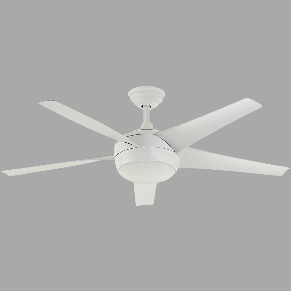 Home Decorators Collection 26662 Windward Led Indoor/Outdoor Ceiling Fan, 52 Inch, Matte White by Home Decorators Collection