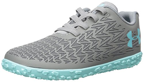 Under Armour Girls' Infant ClutchFit Road Hugger, Steel/Graphite/Tropical Tide, 6K M US Toddler