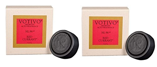 Votivo Aromatic Auto Fragrance, Car Freshener - Red Currant (2-Pack) ...