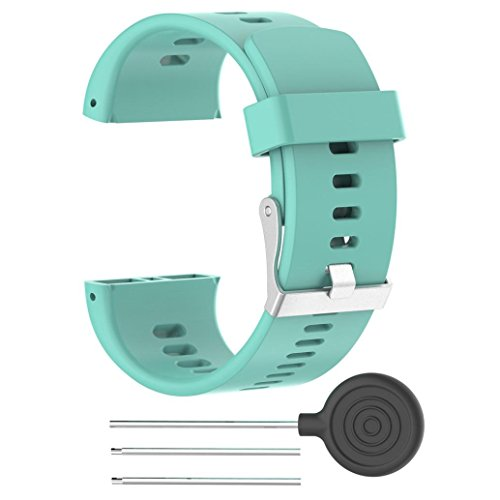 Price comparison product image Alonea Replacement Silicone Rubber Watch Band Wrist Strap For POLAR V800 Watch (Sky Blue)