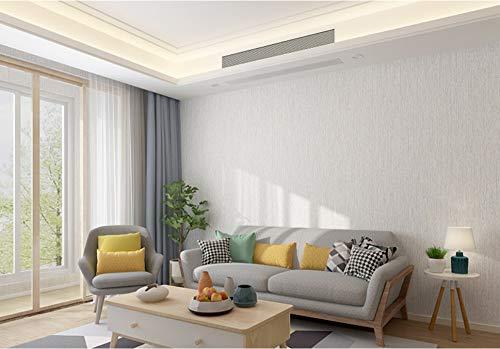 Wallpaper Vertical Stripes-Grayish White Decorative Non-Woven Wallpaper for Living Room Tv Sofa Bedroom Wall Covering Background