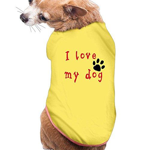 I Love My Dog Pet Clothes For Dog Cat Puppy Hoodies Coat Winter Sweatshirt Warm Sweater M (Walmart Cat Ears Halloween)