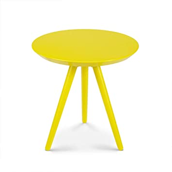 Bynnbz Jaune Petite Table Basse Ronde Verte Table D Appoint De