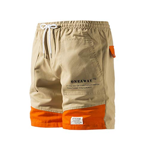 Men Shorts Big and Tall Simayixx Men's Overalls Comfort Stretch Chino Shorts Classic Twill Relaxed Fit Cargo Pants Khaki