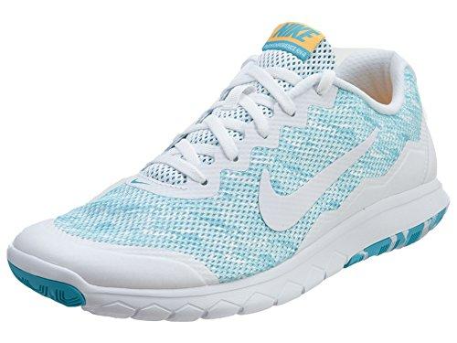 Nike Dames Flex Ervaring Rn 4 Prem Loopschoen Blauw / Wit / Oranje