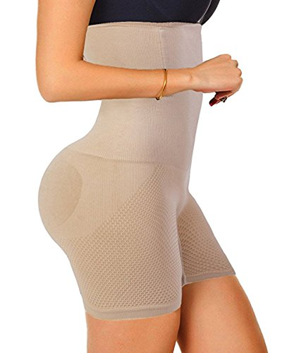 d226929718 Evenriver Women High Waist Cincher Girdle Belly Slimmer Trainer Shapewear  Butt Lifter Panties Nude