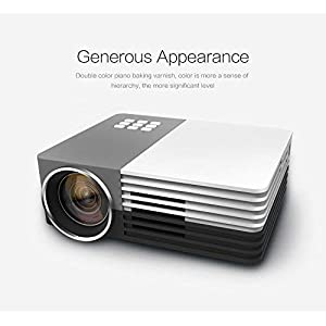 Projector, GAOAG Mini Projector Portable Video LED Projector HD for Outdoor Indoor Movie/Home Cinema Theater/Game (COLL02)