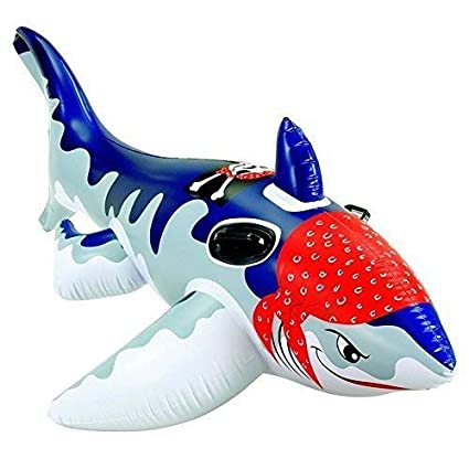 lively moments Inflable Tiburón/Montura/FLOTADOR ANIMAL ...