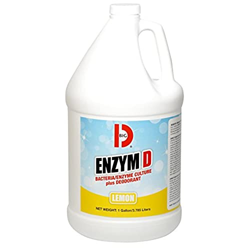 Nice Big D 1500 Enzym D Digester Deodorant, Lemon Fragrance, 1 Gallon (Pack of 4) - Breaks down organic waste and destroys odors - Ideal for use on urine in restrooms and carpets hot sale