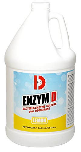 Big D Industries Products - Big D Industries - Enzym D Digester Liquid Deodorant, Lemon, 1 gal, 4/Carton - Sold As 1 Carton - Enzyme/bacteria cultures digest organic waste while -