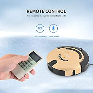 XUEME Robotic Vacuum Cleaner, self-Connecting self-Charging 1000pa high Suction Cleaner with Drop Sensor Technology Designed for All Types of Floor