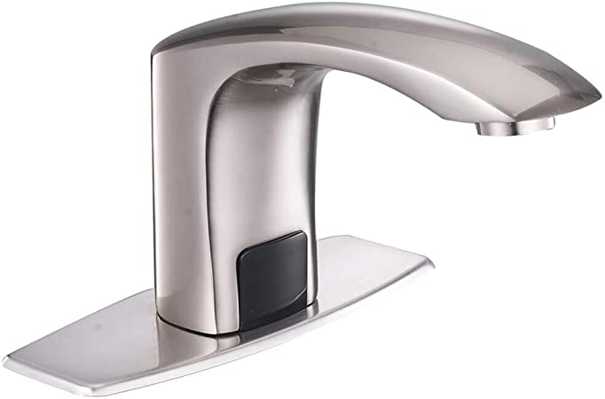 Oil Automatic Sensor Hands Touchless Bathroom Faucet Basin Sink Waterfall Mixer