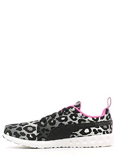 Carson Wns Gris Para Negro Mujer Zapatillas Puma Leopard Everride Sneakers 65dq6wp