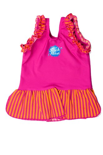 [Splash About Frou Frou costume top (swimming top), Pink, Small, 0-4 months] (0-3 Month Swimming Costumes)