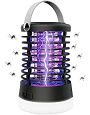Mosquito Killer lamp, Bug Zapper, Electric Mosquito Killer Mosquito Lamp 4 in 1 Portable Mosquito Zapper Lamp SOS Camping Lantern USB Charging Fly Killer Lights IPX5 ,UV Insect Killer Lamp 360 killing with Insect Trap Fly Pests Catcher Lamp Electric Outdoor and Indoor for Backyard,