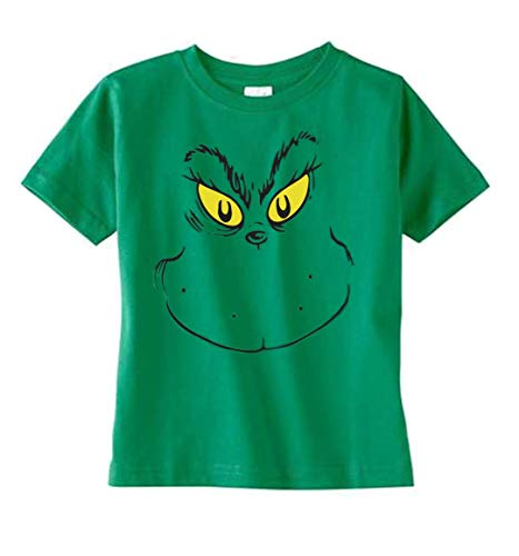 Southern Designs Face of Stink Stank Stunk Toddler T Shirt Holiday and Christmas Apparel (3T) Green -