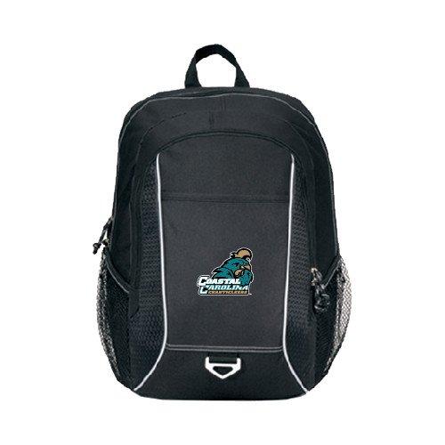 Coastal Carolina Atlas Black Computer Backpack 'Official Logo' by CollegeFanGear