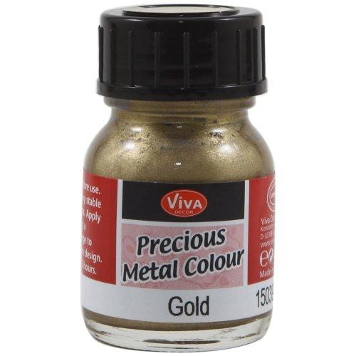 Brads Treats Paper - Viva Decor .8-Ounce Gold Precious Metal Liquid Color