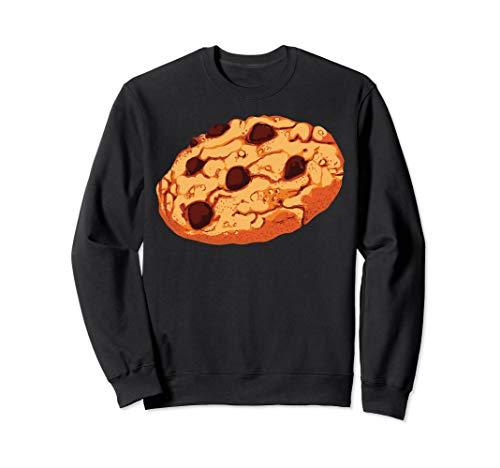 Chocolate Chip Cookie Sweatshirt Giant Cookie Halloween Top ()