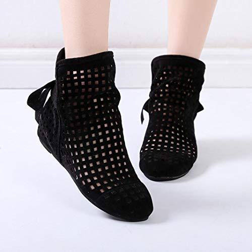 Ausschnitt Knöchel Lässige Klassische Flache Schwarz aushöhlen Damen Keile Stiefeletten Sonnena Damenstiefel Stiefel Boots Mode Schuhe Schwarz Booties Stiefel Ferse xnf84wOqg4