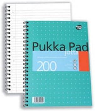 A4//A5 Jotta Faint Ruled Notebook 200 Pages 80gsm Wirobound Pukka Pad