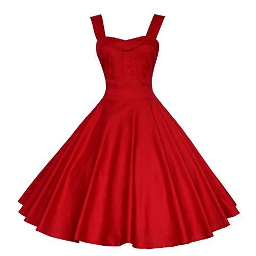 Wedding Guest Dresses for Women,Dresses for Women Party Wedding Plus Size,Beach Dresses for Women,Rockabilly Dresses for Women,Tshirt Dress,Red,M ()