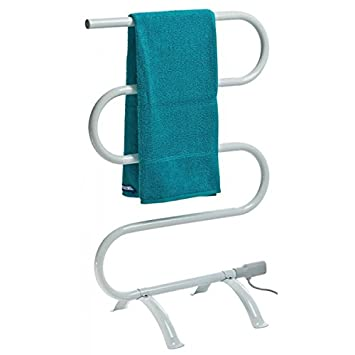 pratico scaldasalviette elettrico con montaggio a pavimento o da parete termoarredo da bagno scalda salviette