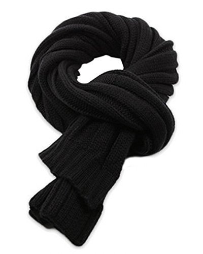Winter Men Forever Chunky Thick Knitted Fashion Winter Scarf Black