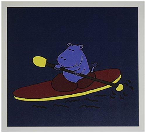3dRose Purple Kayaking Greeting gc 200477 1
