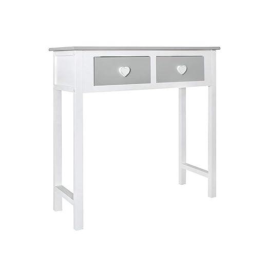 Rebecca Mobili Consola gris, mesa escritorio para el dormitorio ...