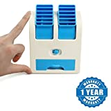 Captcha Mini USB Cooler Portable Desk Table Fan for Office Home USB Electric Air Conditioning With Adjustable Dual Air Outlets (One Year Warranty)