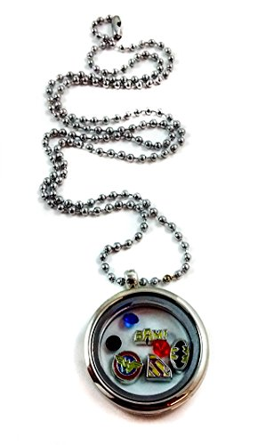 DC+Comics Products : Wonder Woman Batman Superman By Living Memory Lockets for Less Charm Necklace Dc Comics Movie