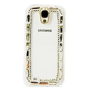 HC-Bling Diamante Patrón Cristal Arco-nudo de plástico duro caso para Samsung Galaxy S4 i9500