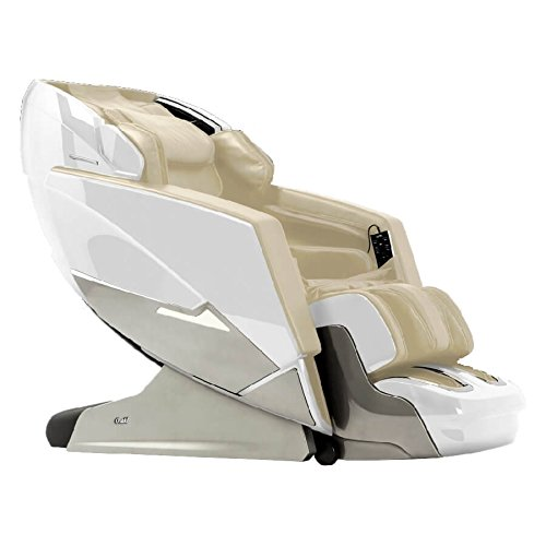 Osaki OS-Pro EKON D Executive Multi-functional Massage Chair, White, Zero Gravity Position, L Track Roller Design, Calf Roller and Kneading Massage, Bluetooth Connection for Speaker