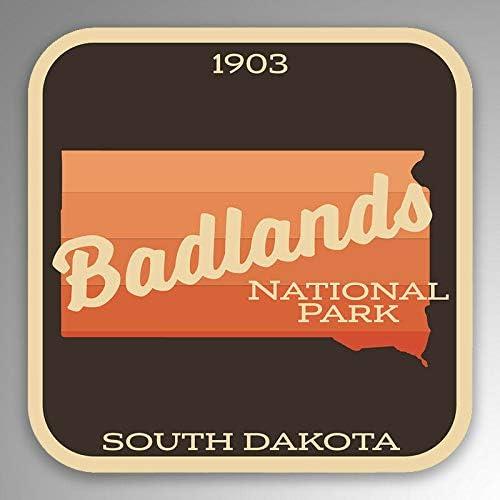 American Vinyl Arrowhead Shaped Badlands National Park Sticker rv Camp Hike sd Dakota
