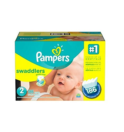 Pampers Swaddlers Diapers Economy Pack Size 2 - 186 ct.