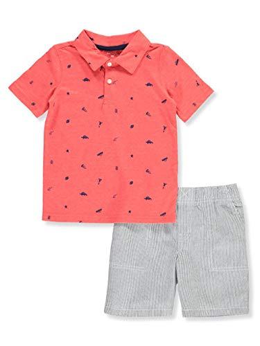 (Carter's Baby Boys' 2 Pc Playwear Sets 249g396 (4T, Stripe Schiffli) )