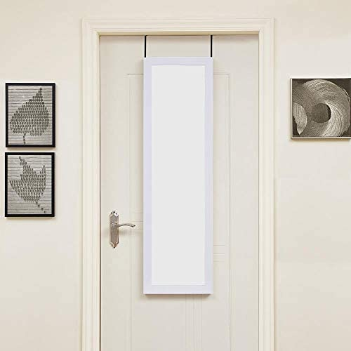 Naomi Home Over The Door Mirror White/48″ x 14″