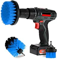Scrub Brush Drill Attachment Kits - Brush Heads for Cordless/Corded Power Drills Impact Drivers – All Purpose Shower Tile Bathroom Bathtub Sink Hardwater Stains Scum Grout Cleaning Set