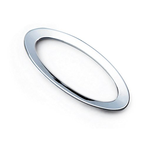 HIGH FLYING Interior Accessories Steering Wheel Central Mark Cover Ring Decor Trim Chrome ABS For Ford Escape Kuga 2013-2017