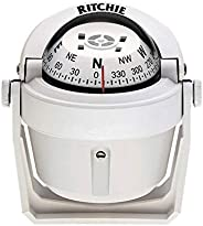 Ritchie Navigation B-51G Explorer Compass - Bracket Mount, White with White Dial
