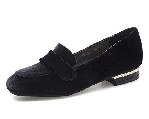 New Shoes Flat Women's Shoes Casual Shoes Lok Fu Shoes Lazy Shoes(Black 34/3 B(M) US Women) (Moc Penny)