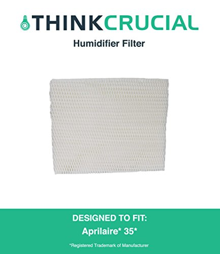 Premium Aprilaire 35 Paper Wick Humidifier Water Pad Filter, Fits 350, 360, 560, 560A, 568, 600, 700, 760, 760A, & 768 (35), by Think Crucial