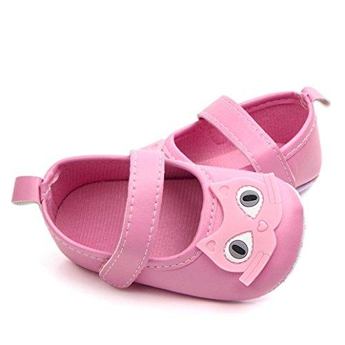 Jamicy® Babyschuhe, Neugeborene Mädchen Nette Karikatur-Weiche Sohle Anti-Rutsch-Erste gehende Schuhe Rosa