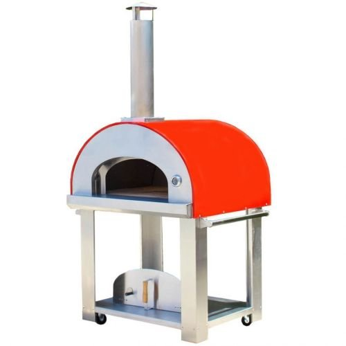 Grande36 Portable Wood Fired Pizza Oven Cart - Red